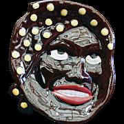 Vintage Black Memorabilia - Old Spoon Rest Plaque - Black Mammy Face