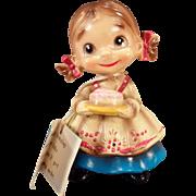 Vintage Josef Original - Old Wee Folks Figure – Little Girl with Birthday Cake