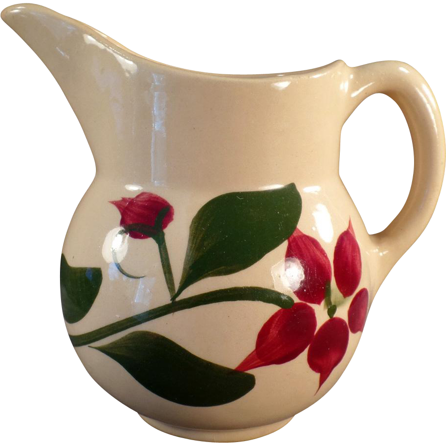 Vintage Watt Pottery - Old Watt Creamer #15 Starflower