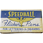 Vintage FB1 Pen Nibs - Old Speedball Flicker Pen Nibs with Original Box