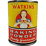 Vintage Baking Powder Tin - Old J.R. Watkins Sample Tin