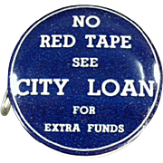 Vintage Celluloid Tape Measure - City Loan of Ohio Advertising