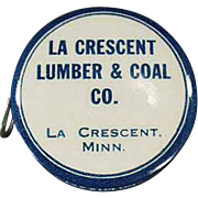 Vintage Celluloid Tape Measure - Old La Crescent Lumber and Coal Advertising Tape Measure