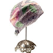 Vintage Cloche – Old Hat with a Colorful Floral Stitched Design