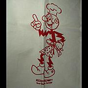 Vintage Barbeque Apron - Old 4H Reddy Kilowatt Advertising  Apron