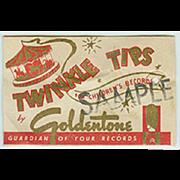 Vintage Steel Phonograph Needle - Goldentone Twinkle Tips Sample Package - Unopened