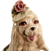 Vintage Dog Figurine -  Old Cordelia China - Fashionable Cocker Spaniel Dog