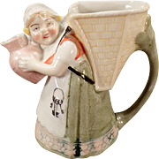 Vintage Schafer & Vater - Old Pitcher - Little Girl with Keys and Pitcher
