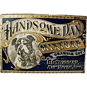 Vintage Tobacco Tin -  Old Handsome Dan Yale Mascot Bulldog Tin - L.L. Stoddard