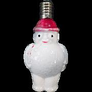 Vintage Glass Light Bulb - Old Christmas Tree Snowman Ornament