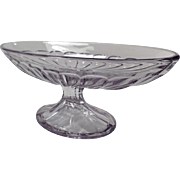 Vintage Heisey Glassware - Old Banana Split Dish - Footed Base, Sun Purple - Two Available