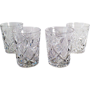 Set of 4 Vintage Libbey Highball Glasses - 6oz. - Old Cut Glass - Set of Four