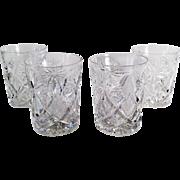 Set of 4 Vintage Libbey Highball Glasses - 6oz. - Old Cut Glass - Set of Four