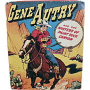 Vintage Gene Autry Better Little Book - Mystery of Paint Rock Canyon - No. 1425