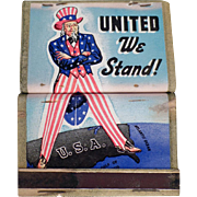 Vintage Matchbooks - Old United We Stand Uncle Sam Matchbooks - 4
