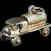 Vintage Sterling Silver Charm - Old C-Cab Tanker Truck