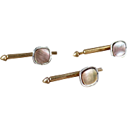 Vintage Collar Studs - Set of Three (3) - Old Swank Shirt Studs