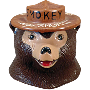 Vintage Smokey Bear Snuffit for Car Dashboards – Old Smoky the Bear Dash Ashtray