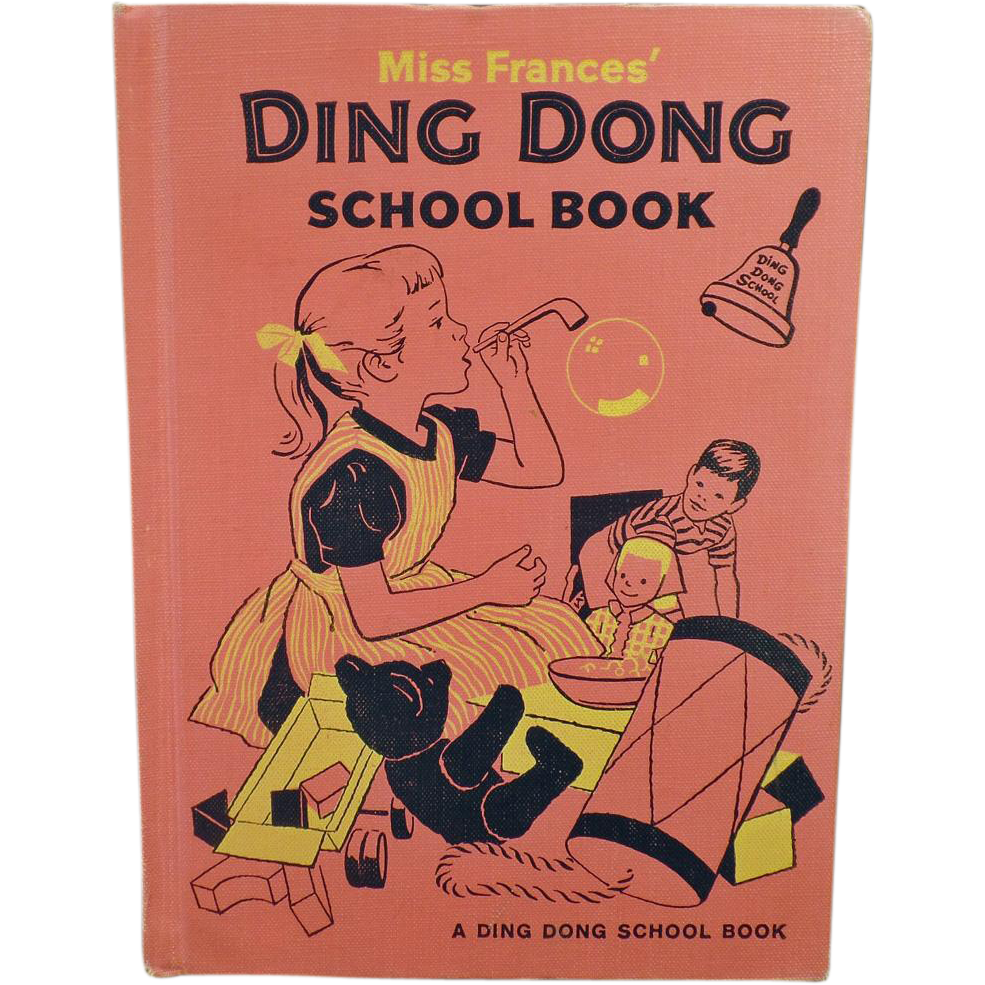 Children's Vintage Project Book -  Miss Frances' Ding Dong School Book – 1960 Hardbound