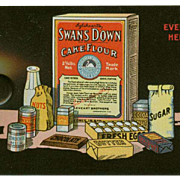Vintage Celluloid Blotter - Old Advertising - Swans Down Cake Flour