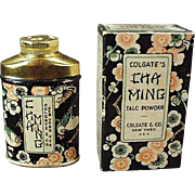 Vintage Sample Talc Tin - Old Clogate Cha Ming Tin with Original Box
