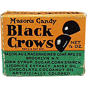 Vintage Candy Box - Old Black Crow Sample Candy Box