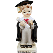 Vintage Porcelain Boy Graduate - Old Graduation Congratulations Norcrest Figurine