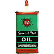 Vintage Old Tin - Old Whiz General Use Oil Tin - Colorful Graphics
