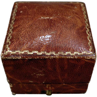 Vintage Paper Covered Ring Box – Masculine Appearance – Brown Leatherette