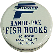 Vintage Fish Hook Tin - Old Pflueger Hande-Pak Fish Hooks