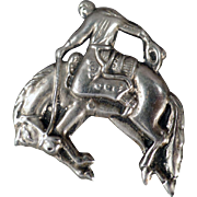 Vintage Lapel Pin - Bucking Bronco with Nice Detail - Costume Jewelry