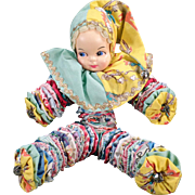 Vintage Cloth Yo-Yo Doll – Old Bed Doll Made of Quilt Circles