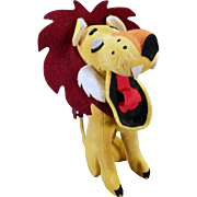 Vintage Stuffed Lion – Old Dakin Dream Pet – Yawning Lion