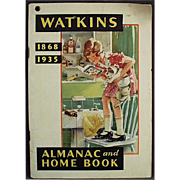 Vintage Watkins 1935 Almanac - Old J.R. Watkins Advertising