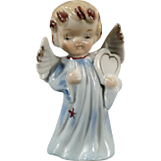 Vintage Porcelain Angel Figure - Sweet Blonde Angel Carrying a Heart