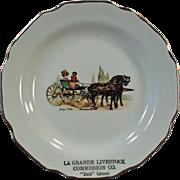 Vintage Souvenir Plate - Old La Grande Advertising - Livestock Commission Bob Green