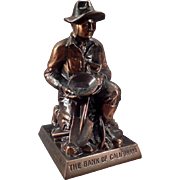 Vintage Bank -  California Gold Prospector - Old Figural Coin Bank