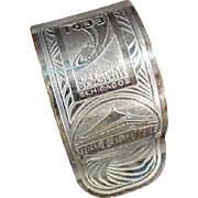 Vintage Napkin Ring - Old Chicago 1933 Century of Progress Souvenir
