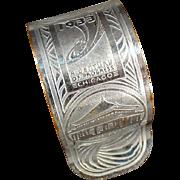 Vintage Napkin Ring - Old Chicago 1933 Century of Progress Souvenir