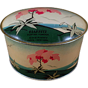 Vintage Talc Tin - Old Cheramy Biarritz Dusting Powder - Very Pretty Powder Tin