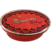 Vintage Candy Tin - Old Brandle and Smith Mellomint Tin - 10c Size
