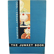 Vintage Recipe Booklet - Old Junket Cool Creamy Desserts Cook Book