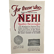 Vintage Nehi Premium Booklet – Old Nehi Beverages Product Catalog