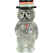 Vintage Perfume Bottle - Old Figural Perfume - Dog Wearing a Hat - Lioret Label