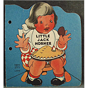 Child's Vintage Book - Little Jack Horner - 1942 Old Story Book - Paperback