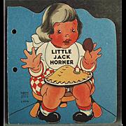 Child's Vintage Book - Little Jack Horner - 1942 Old Story Book - Paperback
