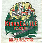 Vintage Advertising Mailer - Old King's Castle Flour Sample Sack