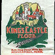 Vintage Advertising Mailer - Old King's Castle Flour Sample Sack