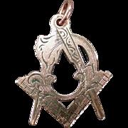 Vintage Masonic Charm Pendant – Beautiful Freemasonry Emblem