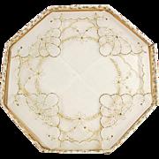 Two Vintage Hankies - Sheer Handkerchiefs with Gold Trim and Original Packaging